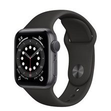 Apple Watch Series 6 GPS 40mm Space Grey Aluminum Case with Sport band (Black) MG133ZP/A